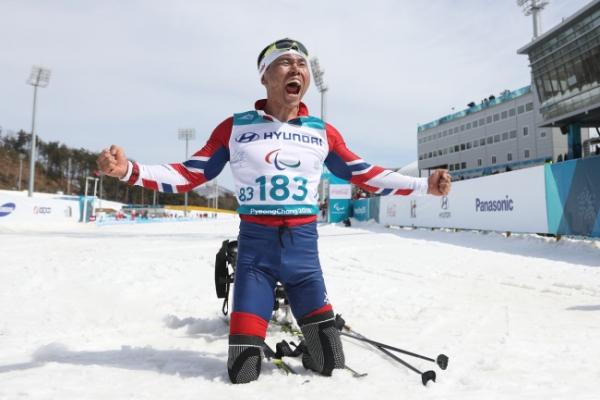[PyeongChang 2018] Para Nordic skier Sin Eui-hyun becomes 1st S. Korean to win gold at Winter Paralympics