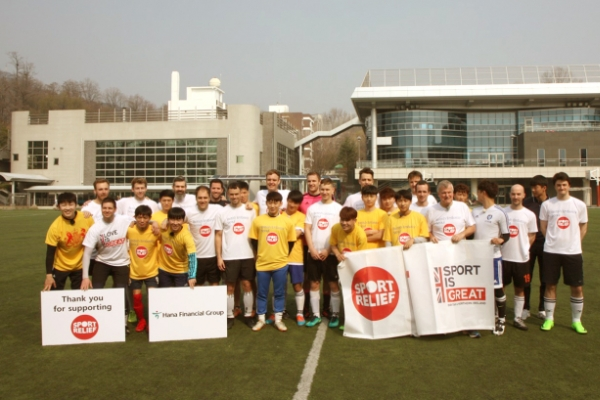 UK Embassy plays soccer with NK defectors for charity