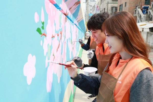 [Photo News] Mural painting in bloom