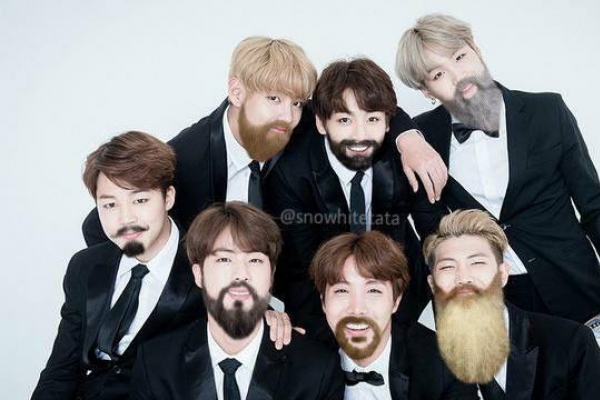BTS grow beards for April Fools' Day?