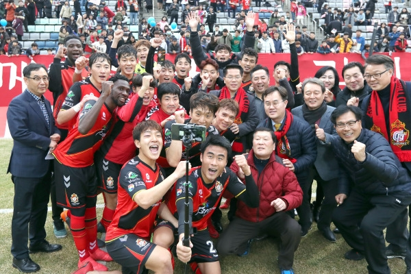 Newly promoted club surprises football fans with early lead in Korean league