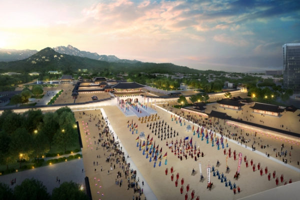 Seoul city embarks on project to expand Gwanghwamun Square