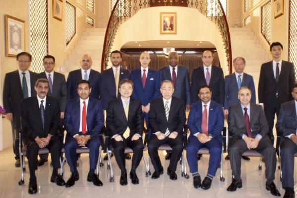 Arab envoys meet ex-UN chief at Omani Embassy