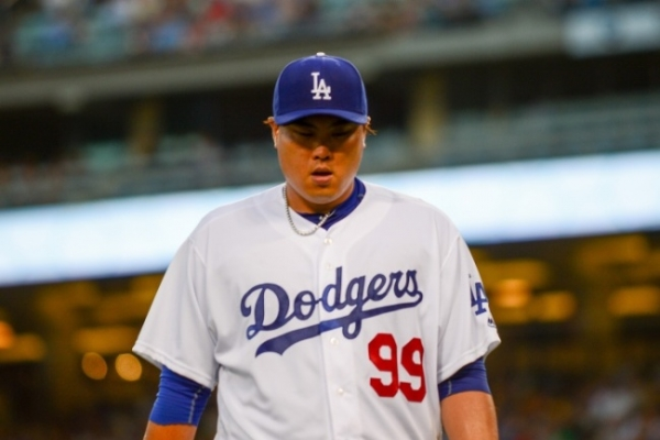Dodgers' Ryu Hyun-jin leaves start early with groin injury