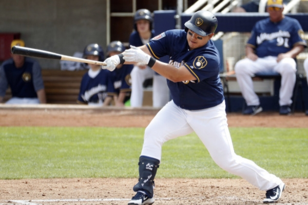 Brewers' Choi Ji-man goes hitless on return to majors