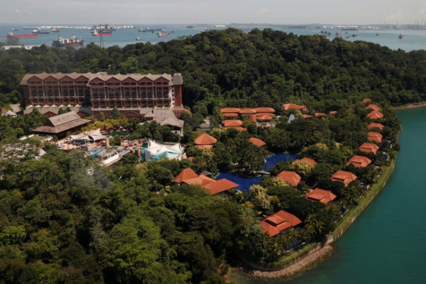 [US-NK Summit] Singapore wraps resort island of Sentosa into special zone for Trump-Kim summit