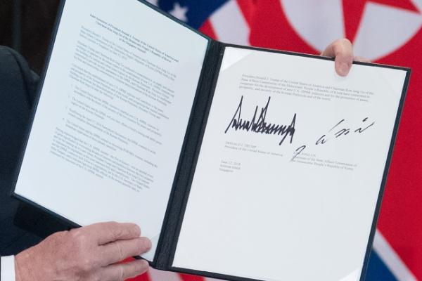 [US-NK Summit] Full text of the Trump-Kim joint statement