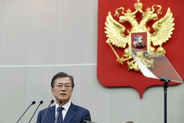 [Breaking] Moon vows to enhance trilateral economic cooperation with North Korea and Russia