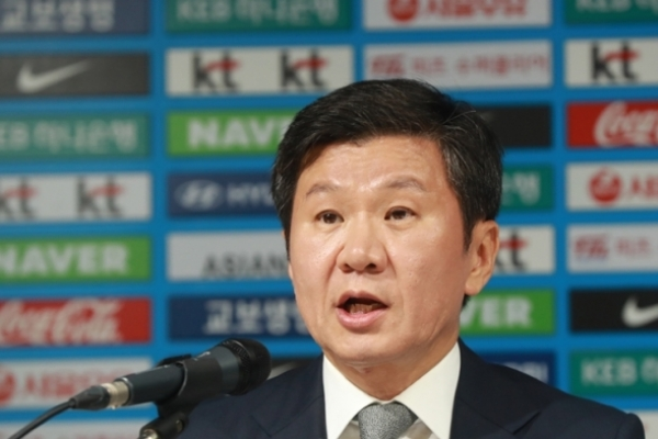 Korean football chief apologizes for nat'l team's performance at 2018 World Cup