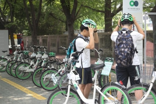 1 in 4 rented bike helmets in Seoul missing or stolen