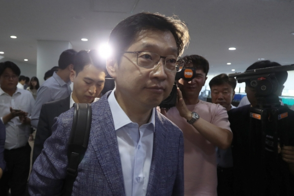[Newsmaker] Gov. Kim denies collusive ties with blogger at center of opinion rigging scandal