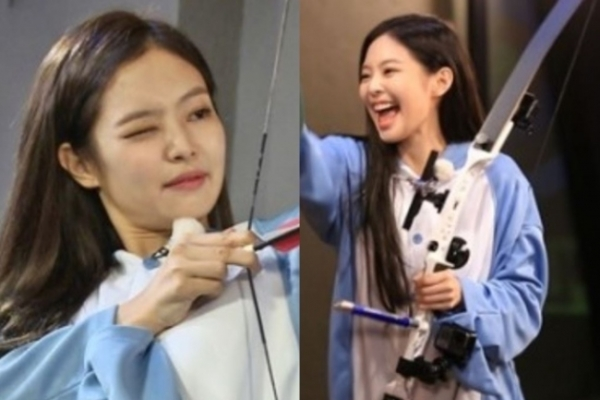 Black Pink's Jennie shows off archery skills