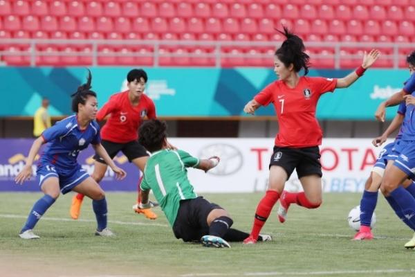 S. Korea defeat Chinese Taipei 2-1 to start women's football competition