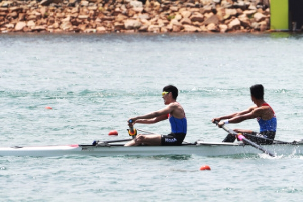 Unified Korean rowing team finishes last in qualification in Asiad debut
