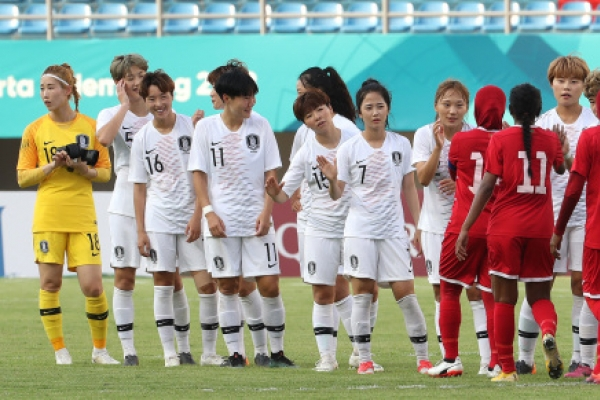 S. Korea crush Maldives 8-0 in women's football