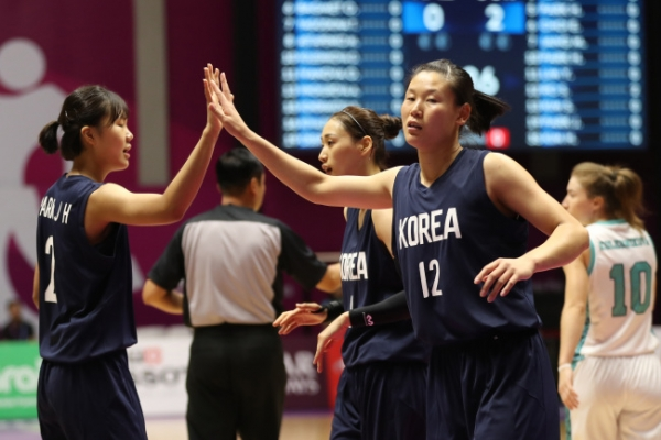 Unified Korean team cruises into women's hoops quarters with win over Kazakhstan
