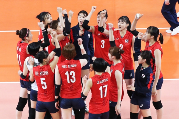 Defending champion Korea wins 2nd straight women's volleyball match