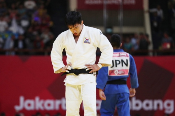 An Chang-rim settles for silver in men's judo