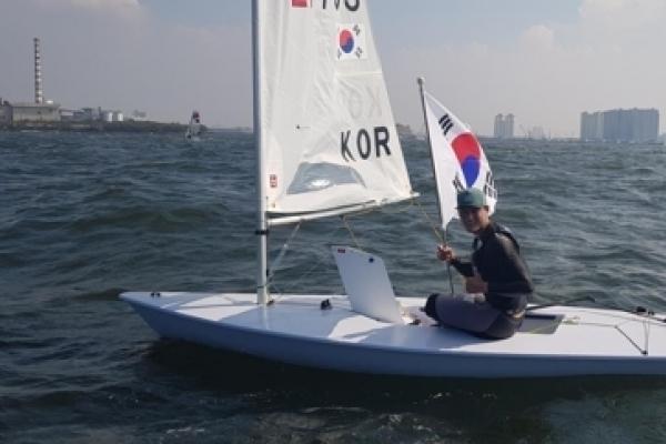 S. Korea's Ha Jee-min wins sailing goald in men's laser standard