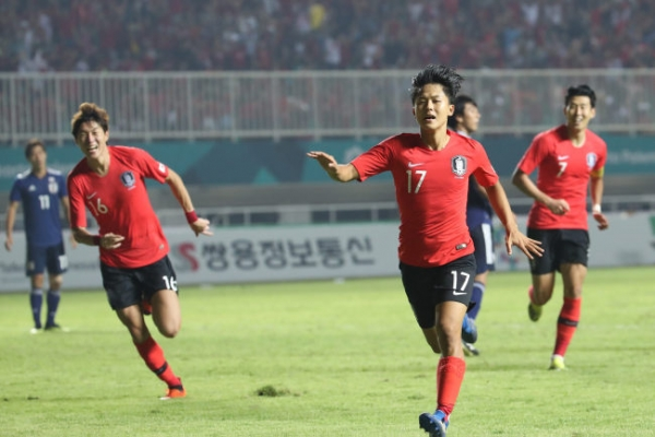 S. Korea beats Japan 2-1 to claim gold in men's football, players avoid military service