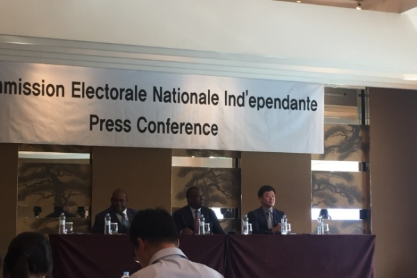 [Newsmaker] Head of Congo's electoral body says 'very few' Congolese oppose Korean-made voting machines
