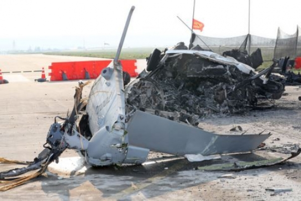 Joint probe team tentatively concludes defective rotor mast as cause of marine chopper crash