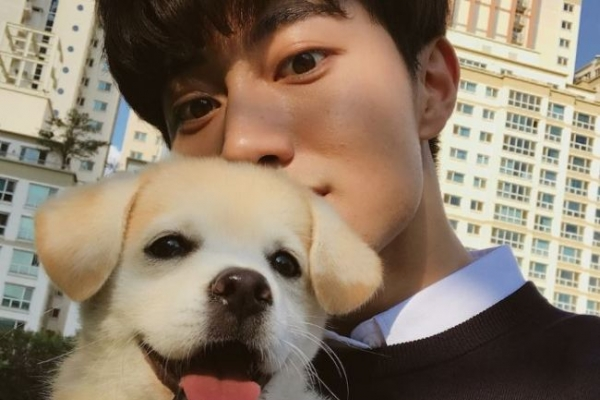 [Trending] Rescued puppy Injeolmi gets 800,000-plus followers, meets celeb