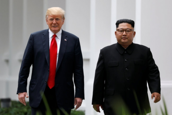 Trump says he won't rush into any deal with N. Korea