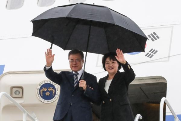 S. Korea's Moon arrives in New York for Trump summit, UN meeting