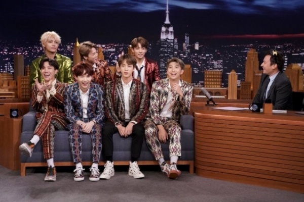 BTS talks about UN speech, next goal on Jimmy Fallon's 'Tonight Show'