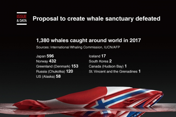 [Graphic News] Proposal to create whale sanctuary defeated