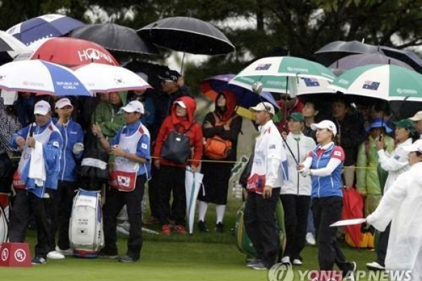 Day 3 action at LPGA team event cancelled due to typhoon Kong-rey