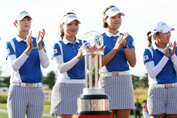 [Photo News] S. Korea wins LPGA's International Crown for 1st time