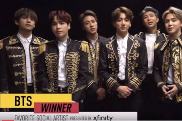 BTS wins favorite social artist award at American Music Awards