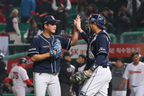 Doosan Bears edge out SK Wyverns to pull even in Korean Series