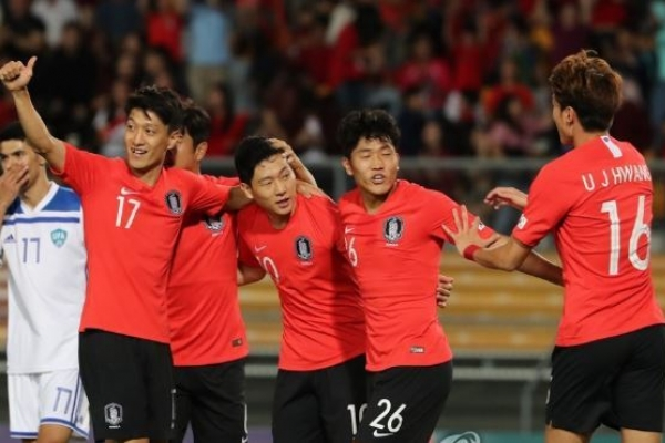 S. Korea demolish Uzbekistan 4-0 in football friendly