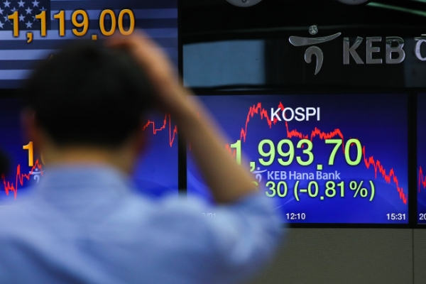 Kospi closes below 2,000 at 25-month low
