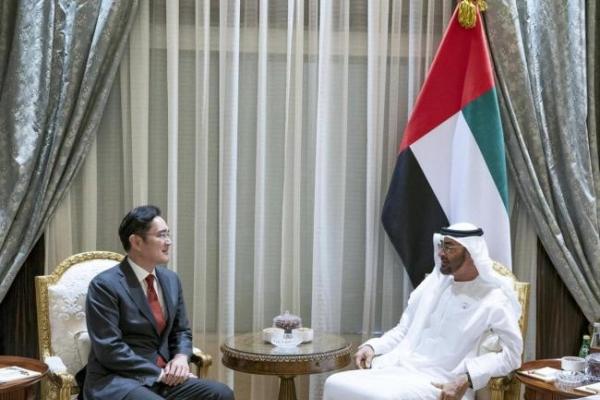 Samsung heir meets UAE crown prince