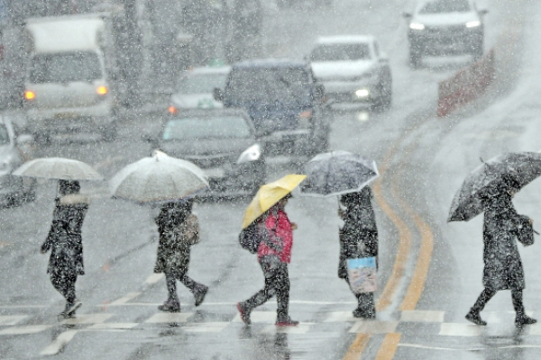 Heavy snow and rain to continue throughout the day