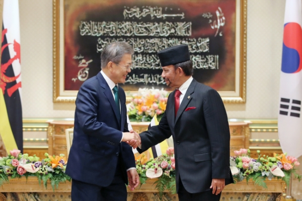 Leaders of S. Korea, Brunei agree to expand economic cooperation