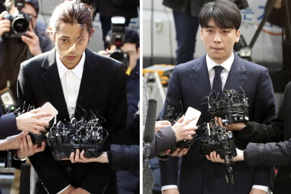 Police question K-pop stars Seungri, Jung Joon-young about sex bribery, illegal sex videos