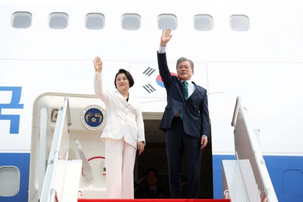S. Korean president heads home after state visit to Cambodia