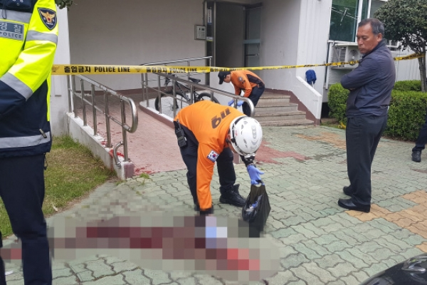 Man fatally stabs 5, injures 13 after setting fire to apartment in Jinju