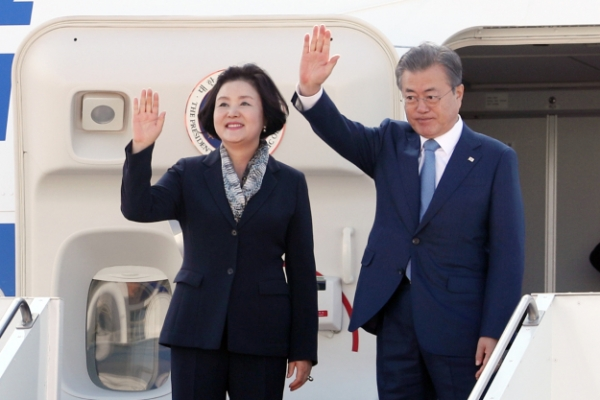 S. Korean president heads home after 3-nation trip to Central Asia