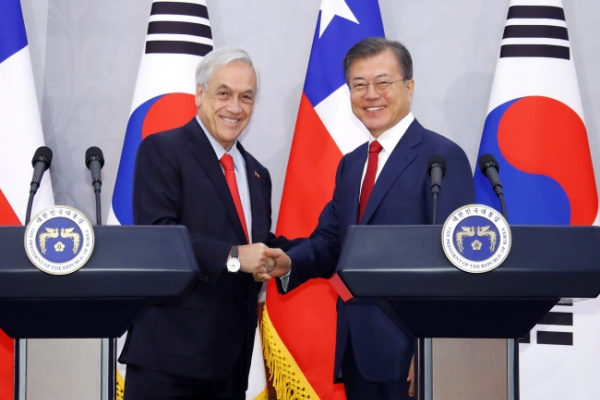 Chile backs S. Korea's Pacific Alliance membership bid