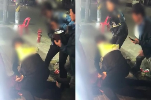 [Newsmaker] Video footage of female cop controlling drunkard sparks dispute