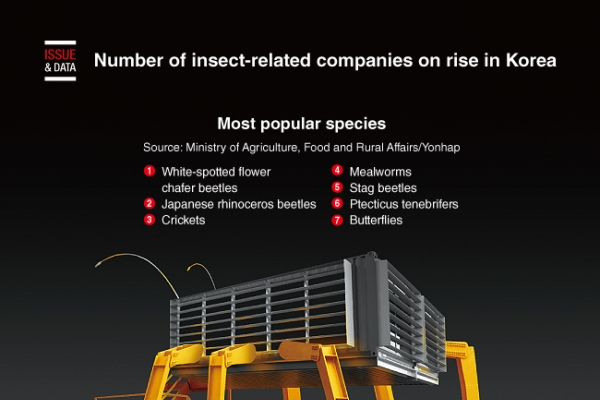 [Graphic News] Number of insect-related companies on rise in Korea