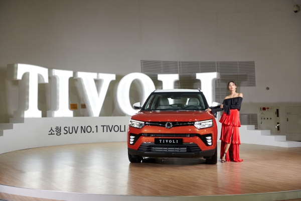 SsangYong's Tivoli facelift adds new gasoline engine, colors