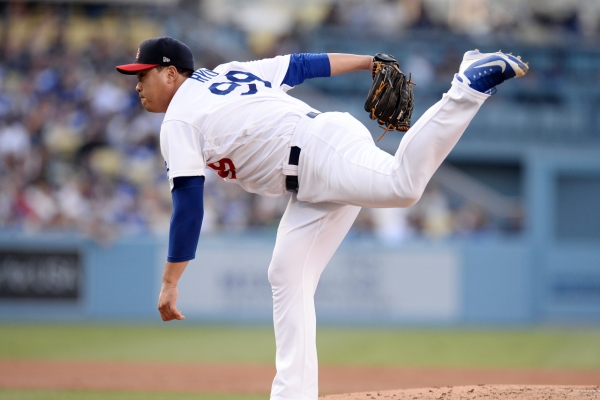 Dodgers' Ryu Hyun-jin wins final start of 1st half