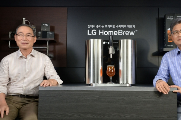 LG launches world's first capsule-type beer brewing machine